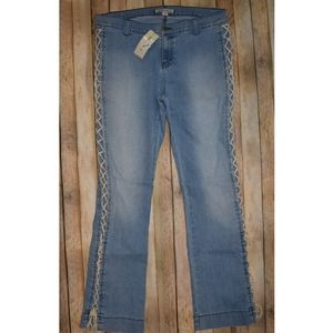 Andrew Charles Vintage Wash Corset Lace Up Jean 26